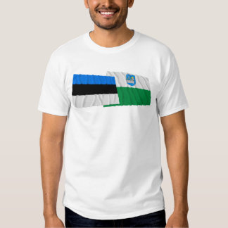Estonia and Lääne-Viru Waving Flags Shirt