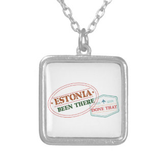Estonia Been There Done That Silver Plated Necklace