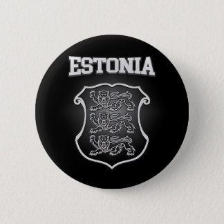 Estonia  Coat of Arms 6 Cm Round Badge