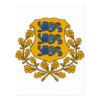 Estonia Coat of arms EE Postcard