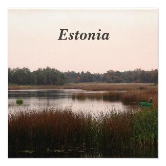 """Estonia Countryside 5.25"""" Square Invitation Card"""