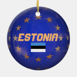 Estonia E.U. Custom Christmas Ornament