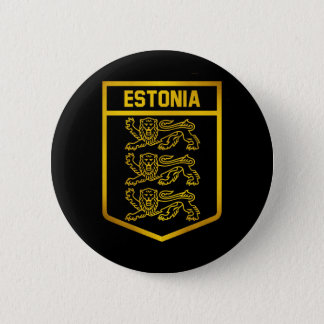 Estonia Emblem 6 Cm Round Badge
