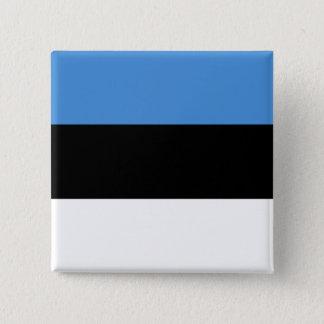 Estonia Flag 15 Cm Square Badge