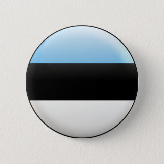 Estonia Flag 6 Cm Round Badge