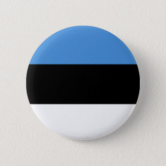 Estonia flag all over design 6 cm round badge
