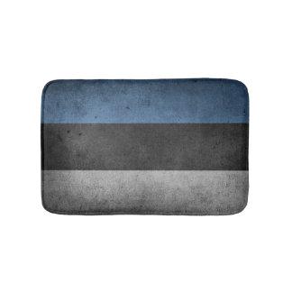 Estonia Flag Grunge Bath Mats