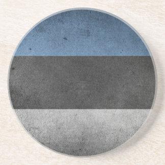 Estonia Flag Grunge Beverage Coasters