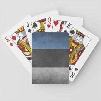 Estonia Flag Grunge Poker Deck