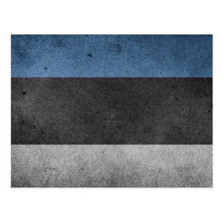 Estonia Flag Grunge Postcard