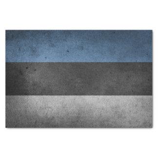 Estonia Flag Grunge Tissue Paper