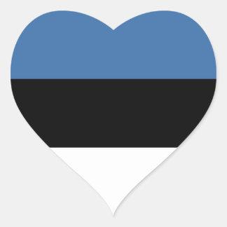 Estonia Flag Heart Sticker