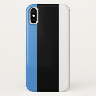 Estonia Flag iPhone X Case