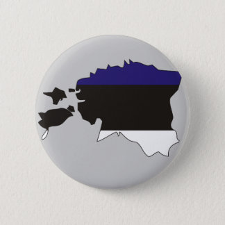 Estonia flag map 6 cm round badge