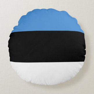 Estonia Flag Round Cushion