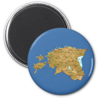 Estonia Map Magnet