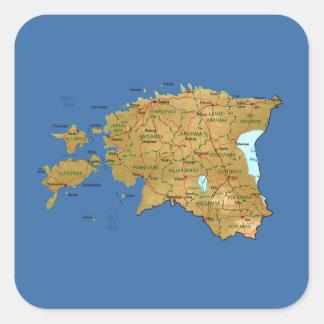 Estonia Map Sticker