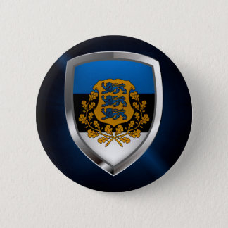 Estonia  Metallic Emblem 6 Cm Round Badge