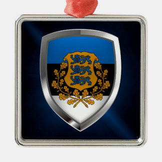 Estonia  Metallic Emblem Metal Ornament