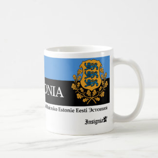 Estonia National Symbols Coat of Arms w/ Lions Coffee Mug
