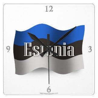 Estonia Waving Flag Wallclocks
