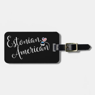 Estonian American Entwined Heart Luggage Tag
