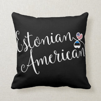 Estonian American Entwined Hearts Throw Cushion