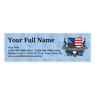 Estonian-American Shield Flag Business Cards