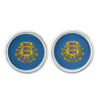 Estonian coat of arms cufflinks
