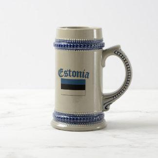 Estonian Flag Beer Stein