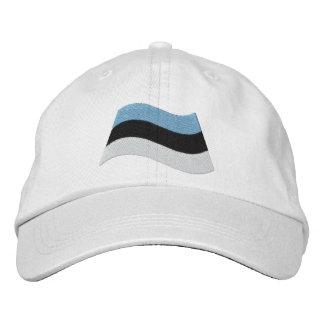Estonian Flag Embroidered Cap