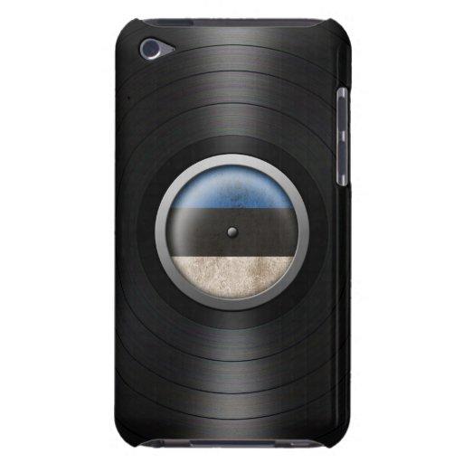 Estonian Flag Vinyl Record Album Graphic iPod Case-Mate Cases