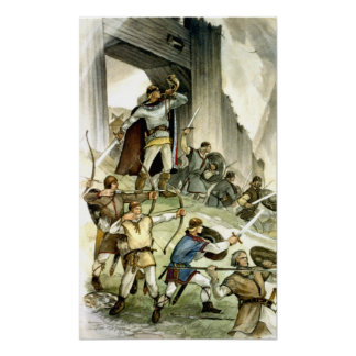 Estonian Viking Battle - Watercolour Poster