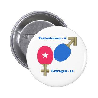 Estrogen Ping Pong 6 Cm Round Badge