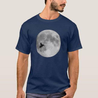 """ET"" Sled and Moon Navy Blue Sledders.com T-Shirt"