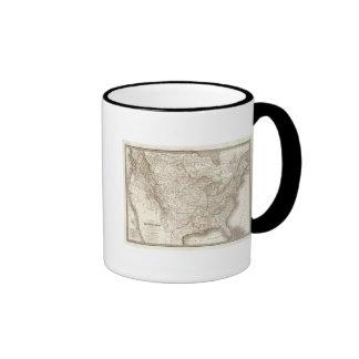 EtatsUnis d'Amerique - United States of America Ringer Coffee Mug