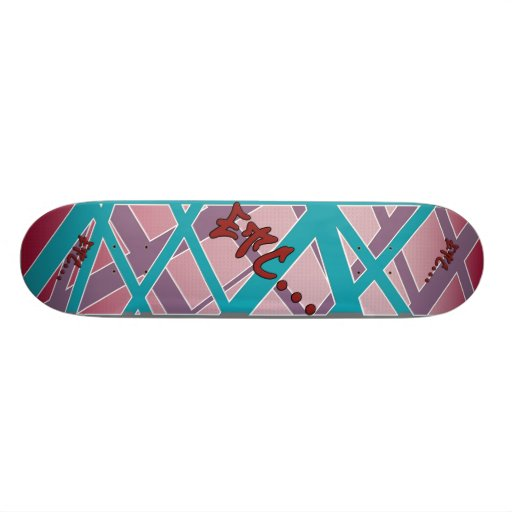 etc... Style Webbed Skate Deck