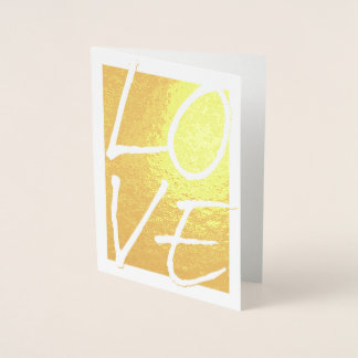 Etched Gold Foil LOVE Greeting Cards