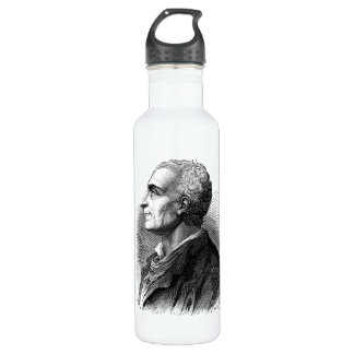 Etched Portrait of Montesquieu by Emile Bayard 710 Ml Water Bottle