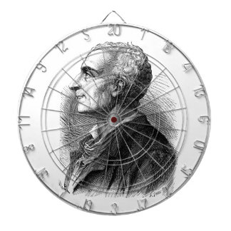 Etched Portrait of Montesquieu by Emile Bayard Dartboard With Darts