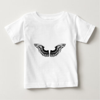 Etched Woodcut Wings Baby T-Shirt