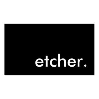 etcher. pack of standard business cards