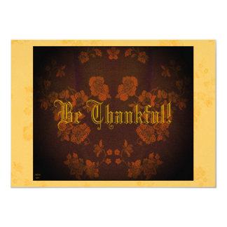 "Eternal Autumn Southern Pecan/Washington Hawthorn 4.5"" X 6.25"" Invitation Card"