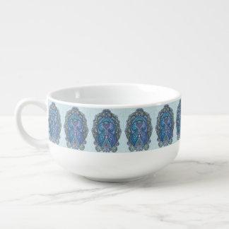 Eternal birth, new age, bohemian soup mug