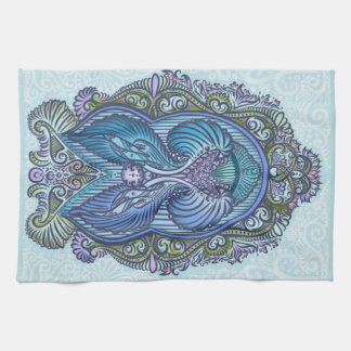 Eternal birth, new age, bohemian tea towel