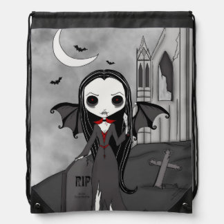 Eternal Doll Drawstring Bag