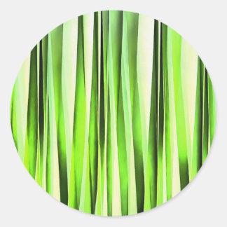 Eternal Evergreen Stripy Pattern Classic Round Sticker
