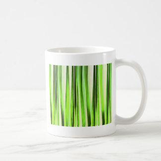 Eternal Evergreen Stripy Pattern Coffee Mug