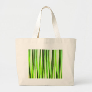 Eternal Evergreen Stripy Pattern Large Tote Bag
