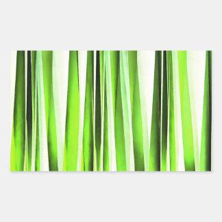 Eternal Evergreen Stripy Pattern Rectangular Sticker